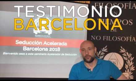 """Testimonio Desde """"Seducción Acelerada"""" Barcelona"""